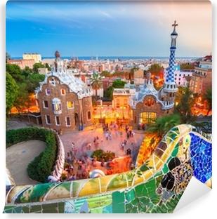 Vinil Duvar Resmi Barselona, İspanya Park Guell