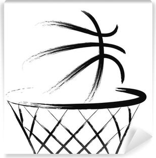 Vinil Duvar Resmi Basketbol, vektör