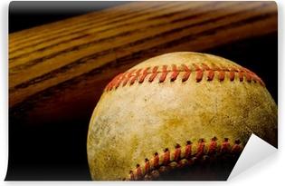 Vinil Duvar Resmi Beyzbol sopası ve topu