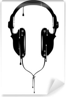 Vinil Duvar Resmi Boyalı Kulaklıklar