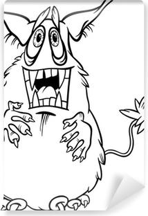 Boyama Karikatür Canavar Illüstrasyon Tuval Baskı Pixers Haydi