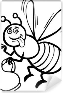 Boyama Kitabı Için Bal Arısı Karikatür üç Parçalı Pixers Haydi