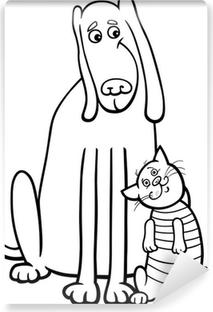 Sevimli Hayvanlar Karikatur Boyama Duvar Resmi Pixers Haydi