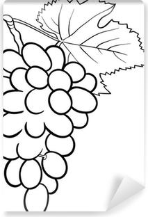 Boyama Kitabı Için üzüm Illüstrasyon çerçeveli Tuval Pixers