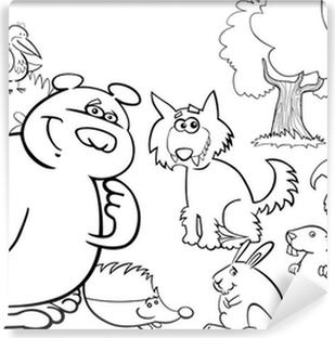 Vahsi Orman Hayvanlar Boyama Icin Duvar Resmi Pixers Haydi