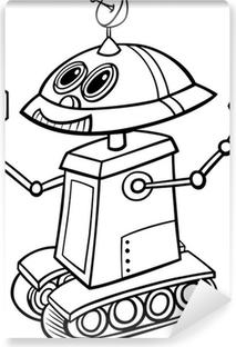 Boyama Kitabi Icin Karikatur Robot Duvar Resmi Pixers Haydi