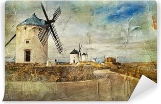 Boyama Tarzı Resim Ispanya Yel Değirmenleri çıkartması Pixerstick