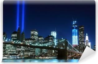 Vinil Duvar Resmi Brooklyn Köprüsü ve Işık Kulesi, New York