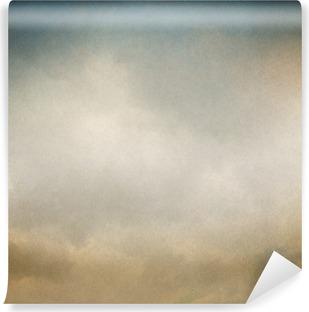 Vinil Duvar Resmi Bulutlar ve Kağıt dokusu ile Vintage background.