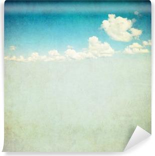 Vinil Duvar Resmi Bulutlu gökyüzü, retro görüntüsü