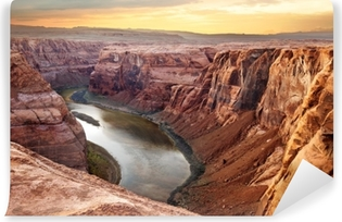 Vinil Duvar Resmi Colorado nehir derin kanyon at nalı viraj, güneybatı