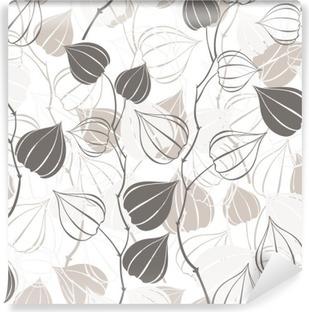 Vinil Duvar Resmi Dalları physalis ile sorunsuz desen. Özet floral background.