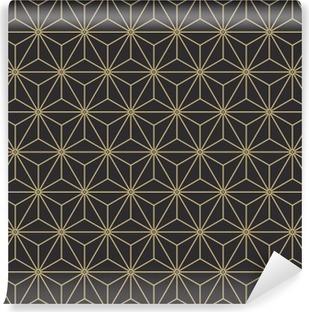 Vinil Duvar Resmi Dikişsiz antika palet eski japon asanoha izometrik model vektör