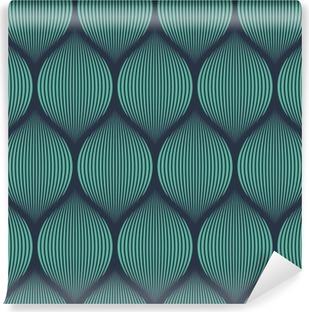 Vinil Duvar Resmi Dikişsiz neon mavi optik yanılsama dokuma desen vektör