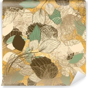 Vinil Duvar Resmi Dikişsiz soyut floral pattern