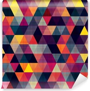 Vinil Duvar Resmi Dikişsiz üçgen arka plan