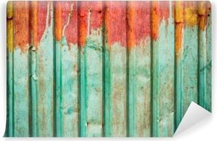Vinil Duvar Resmi Dış duvar veya çatı üzerinde kullanılan paslı çinko tabakasının dokusu
