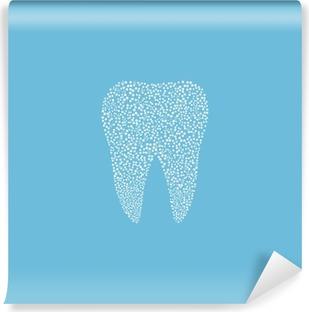 Vinil Duvar Resmi Diş logosu. Tıbbi tasarımı. Diş Hekimi ofis simgesi. Vector illustration.