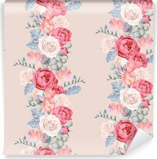 Vinil Duvar Resmi Düğün çiçekleri sorunsuz