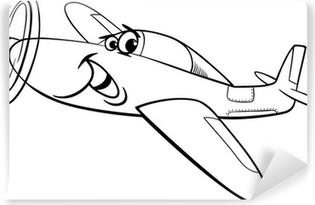 Boyama Kitabi Icin Araba Karikatur Illustrasyon Duvar Resmi