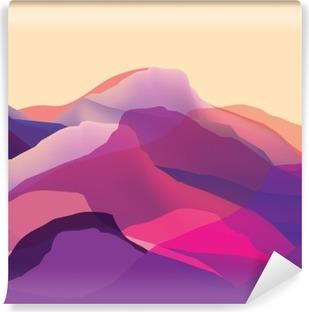 Vinil Duvar Resmi Eğer proje için renk mountians, dalgalar, soyut yüzey, modern bir arka plan, vektör tasarım İllüstrasyon
