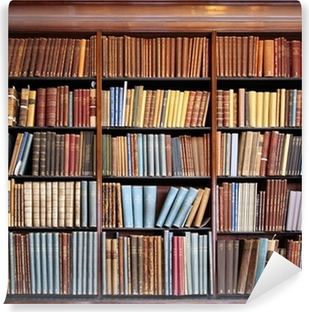 Vinil Duvar Resmi Eski kütüphane kitaplık