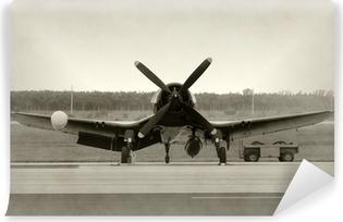 Vinil Duvar Resmi Eski pervaneli uçak