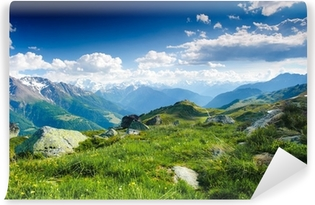 Vinil Duvar Resmi Fiescheralp ve Bettmeralp dağ panorama, Wallis, Switz