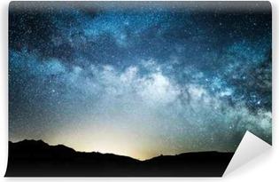 Vinil Duvar Resmi Geceleri ölüm vadisinden görüldüğü gibi Samanyolu