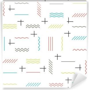 Vinil Duvar Resmi Geometrik çizgiler seamless pattern renkli. İnce çizgiler desen. H