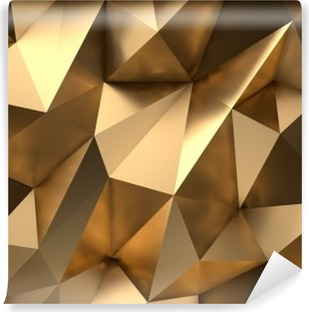 Vinil Duvar Resmi Gold Özet Background 3D-Render