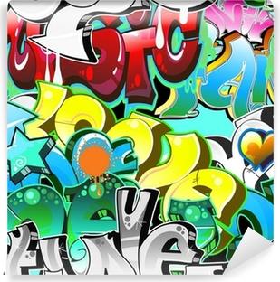 Vinil Duvar Resmi Graffiti Kentsel Sanat Arkaplan. dikişsiz tasarım