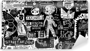 Vinil Duvar Resmi Graffiti
