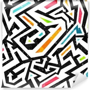 Vinil Duvar Resmi Grafiti sorunsuz desen