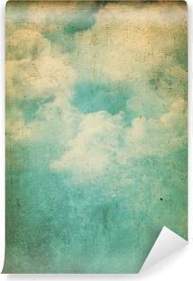 Vinil Duvar Resmi Grunge bulutlar arka plan