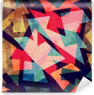 Vinil Duvar Resmi Grunge geometrik seamless pattern