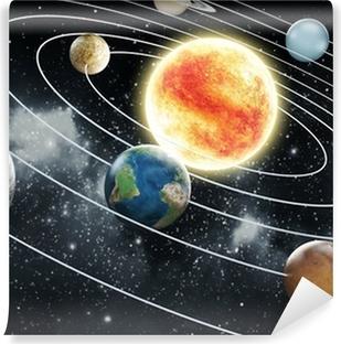 Vinil Duvar Resmi Güneş sistemi illüstrasyon
