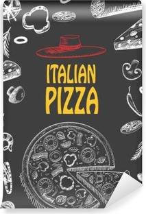 Hammadde Gıda Tasarımı Menü Broşür Ile Italyan Pizza Stil şablonu