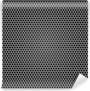 Vinil Duvar Resmi Izgara gri metal, siyah arka plan
