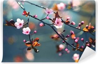 Vinil Duvar Resmi Japon ağaç Sakura çiçekli bahar