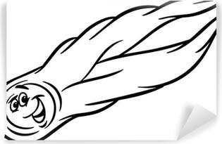 Karikatür Kuyrukluyıldız Boyama Masa çıkartması Pixers Haydi