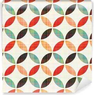 Vinil Duvar Resmi Kesintisiz geometrik dairesel desen