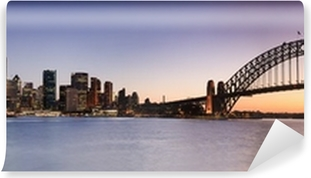 Vinil Duvar Resmi Kirribilli Seti Panor Sydney CBD