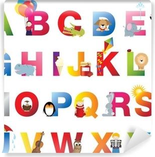 Vinil Duvar Resmi Komple çocuk alfabe