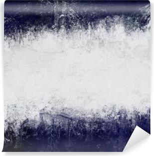 Vinil Duvar Resmi Koyu mavi ve metin için boş alan beyaz Özet boyalı arka plan
