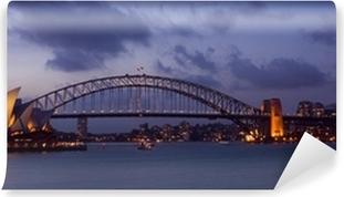 Vinil Duvar Resmi Liman köprüsü ve opera binası