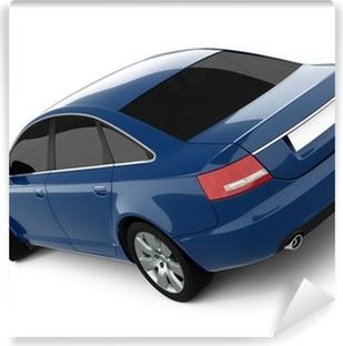 Vinil Duvar Resmi Mavi İş-Class Car