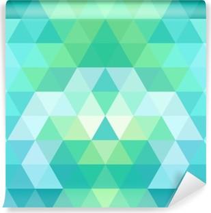 Vinil Duvar Resmi Mozaik üçgen arka plan. geometrik arka plan