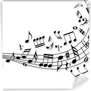 Vinil Duvar Resmi Müzik notaları