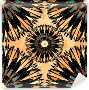 Vinil Duvar Resmi Oryantal renkli süsleme sorunsuz desen Vector illustration